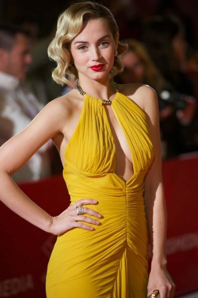 Ana de Armas sexy yellow dress pics