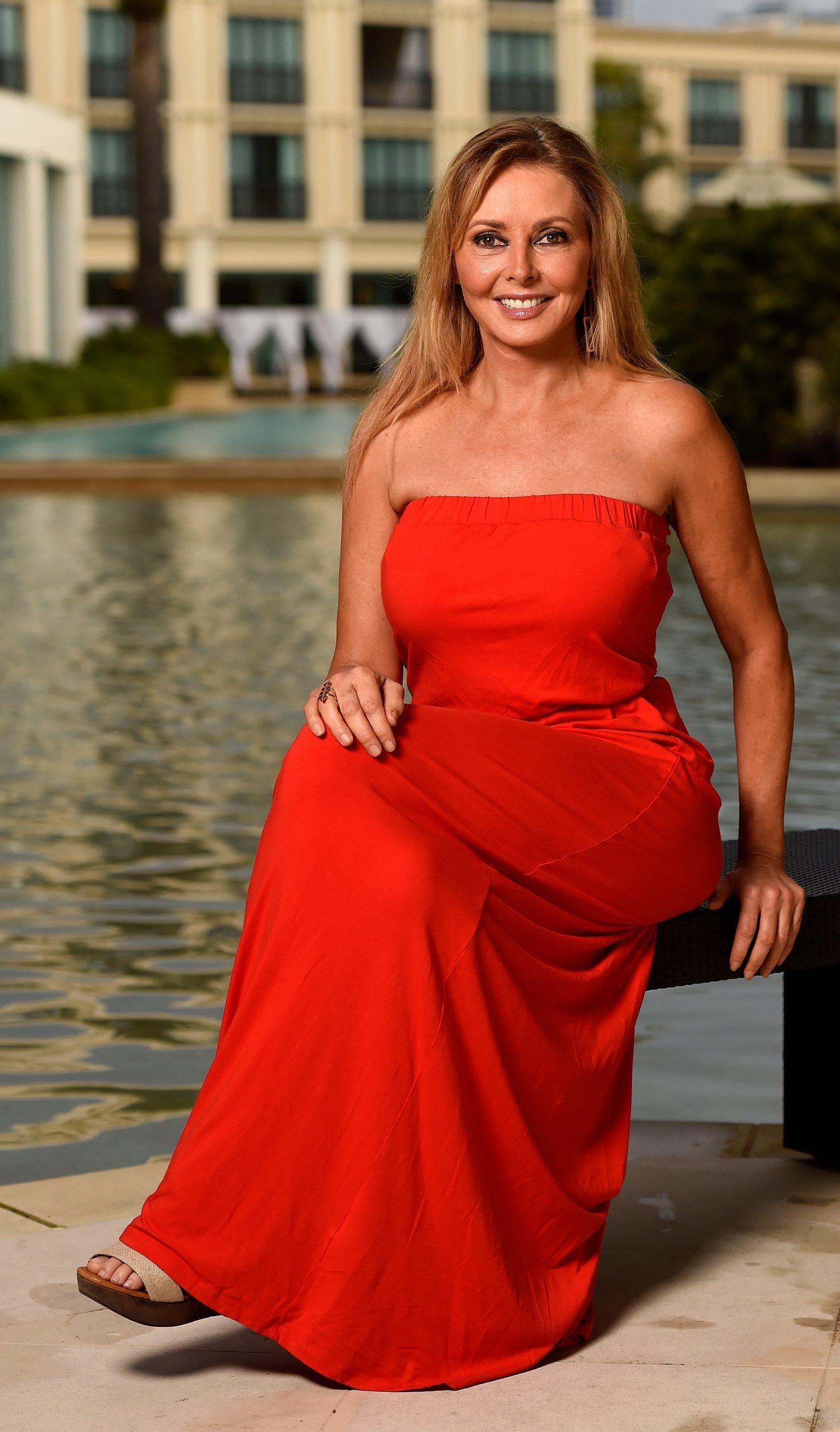 Carol Vorderman sexy red dress pics