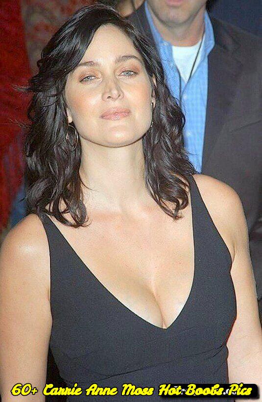 Carrie Anne Moss hot boobs pics