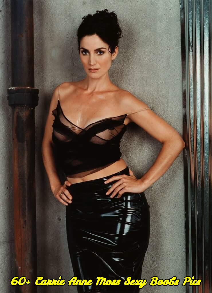 Carrie Anne Moss sexy boobs pics