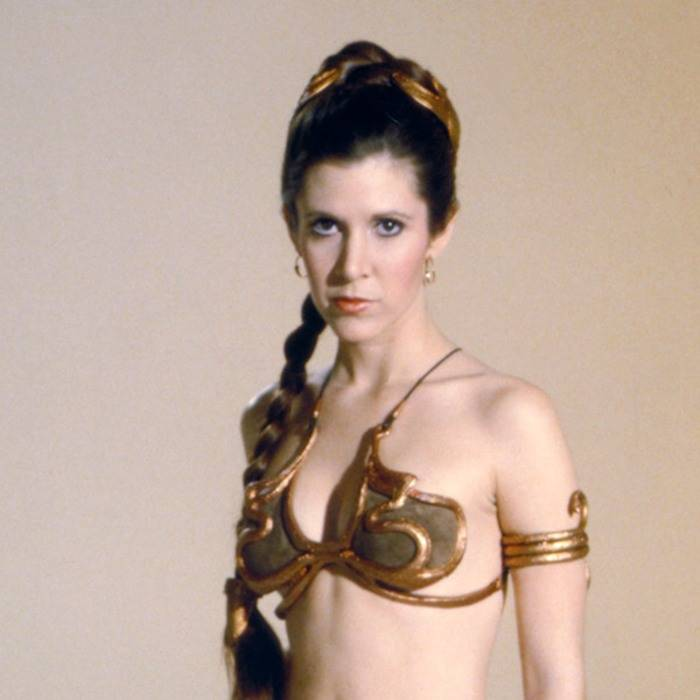 Carrie Fisher sexy cleavage pics