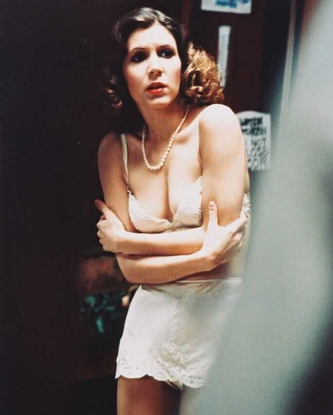 Carrie Fisher sexy cleavage pictures