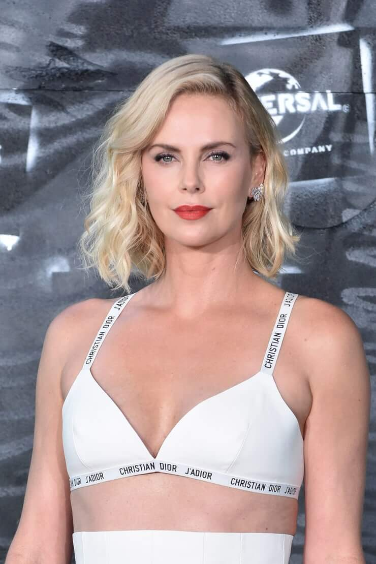 Charlize Theron sexy cleavage