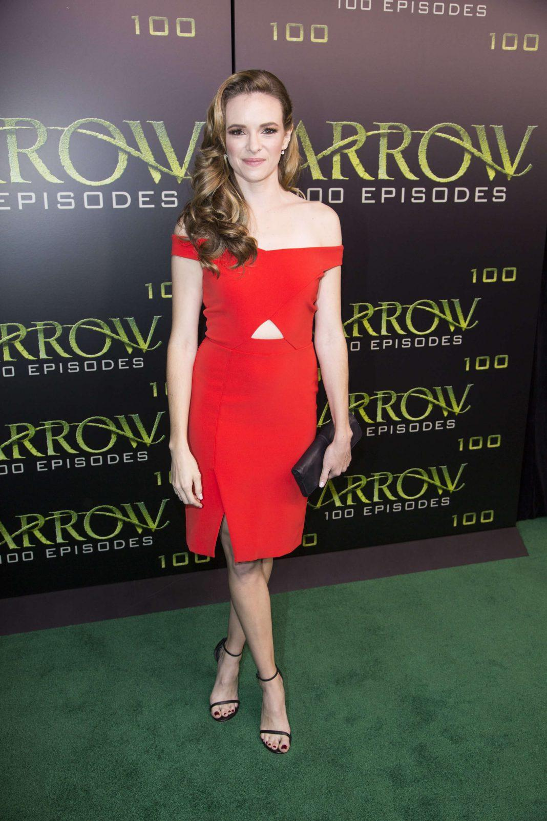 Danielle Panabaker sexy red dress pics