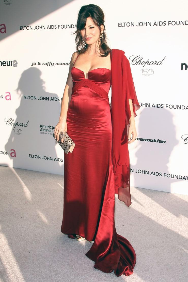 Gina Gershon sexy red dress pics