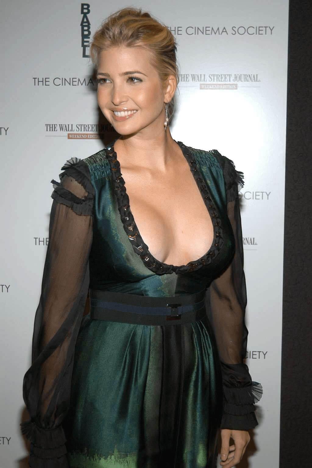 Ivanka Trump sexy cleavage