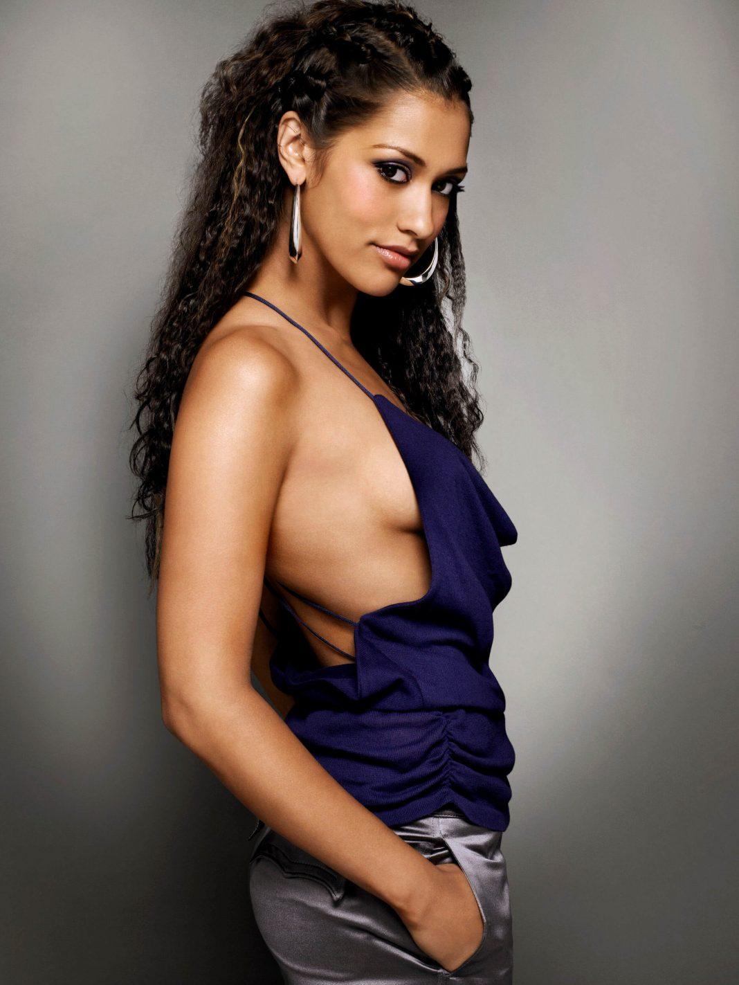 Janina Gavankar sexy side boobs pics
