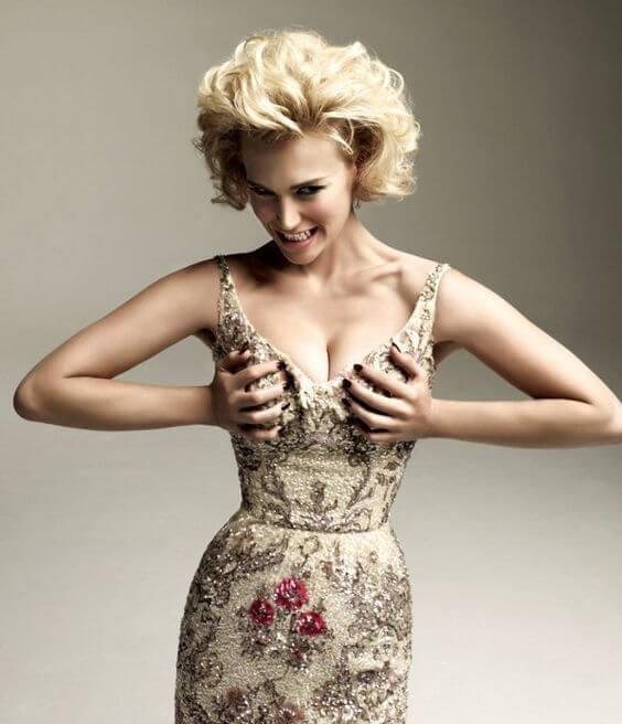 January Jones amazing boobs pics