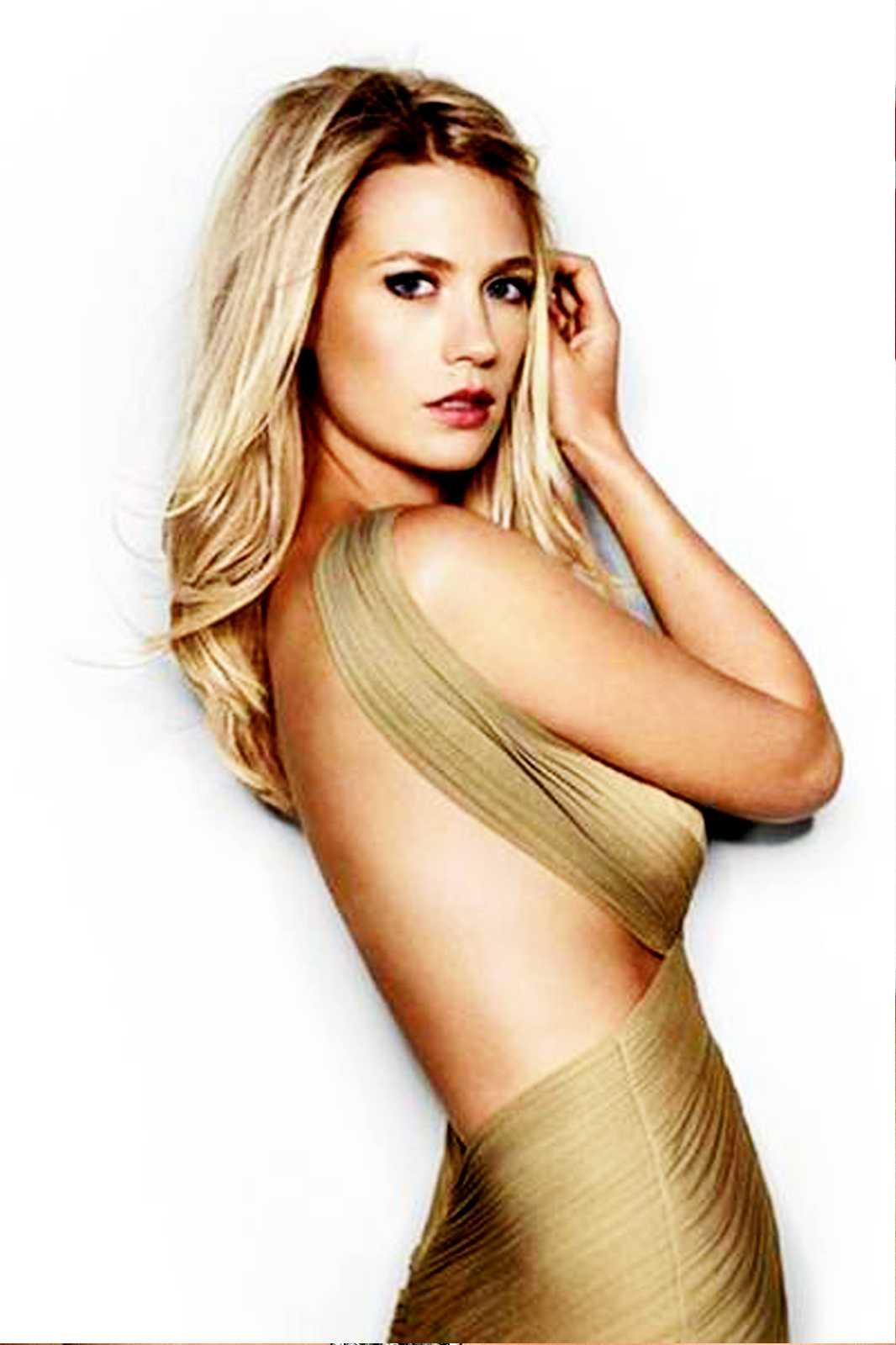 January Jones sexy side boobs pics