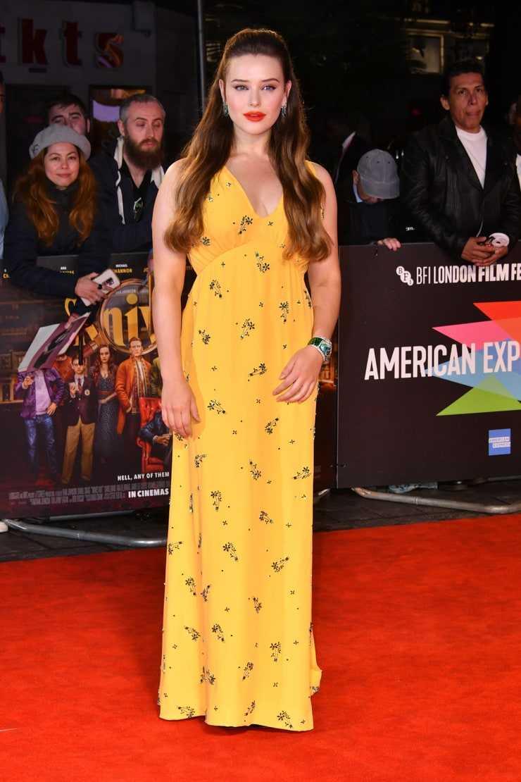 Katherine Langford sexy yellow dress pics