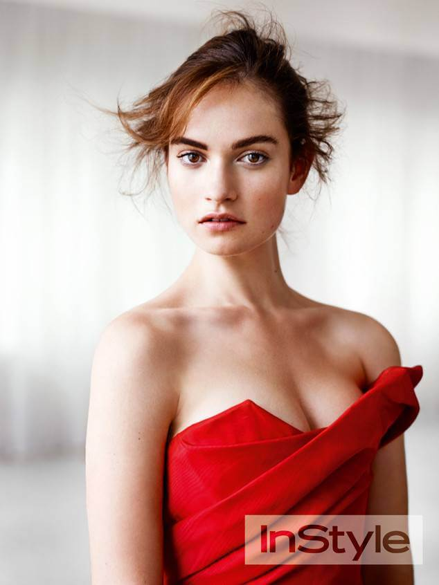 Lily James cleavage pic