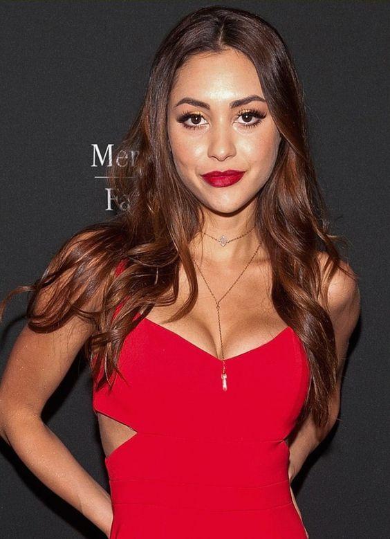Lindsey Morgan sexy red dress pics