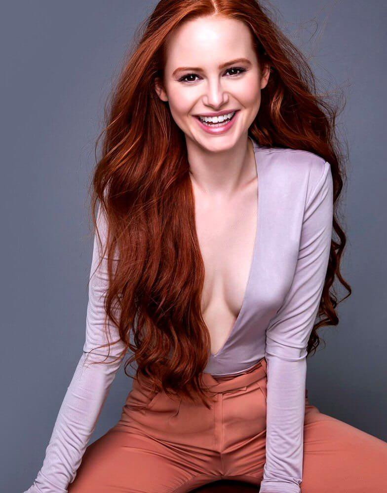 Madelaine Petsch hot cleavage pictures