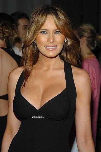 Melania Trump hot cleavage pic