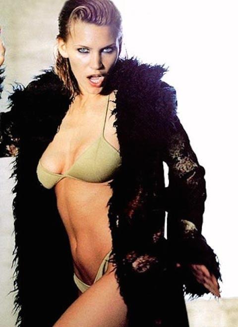 Natasha Henstridge sexy side boobs pics
