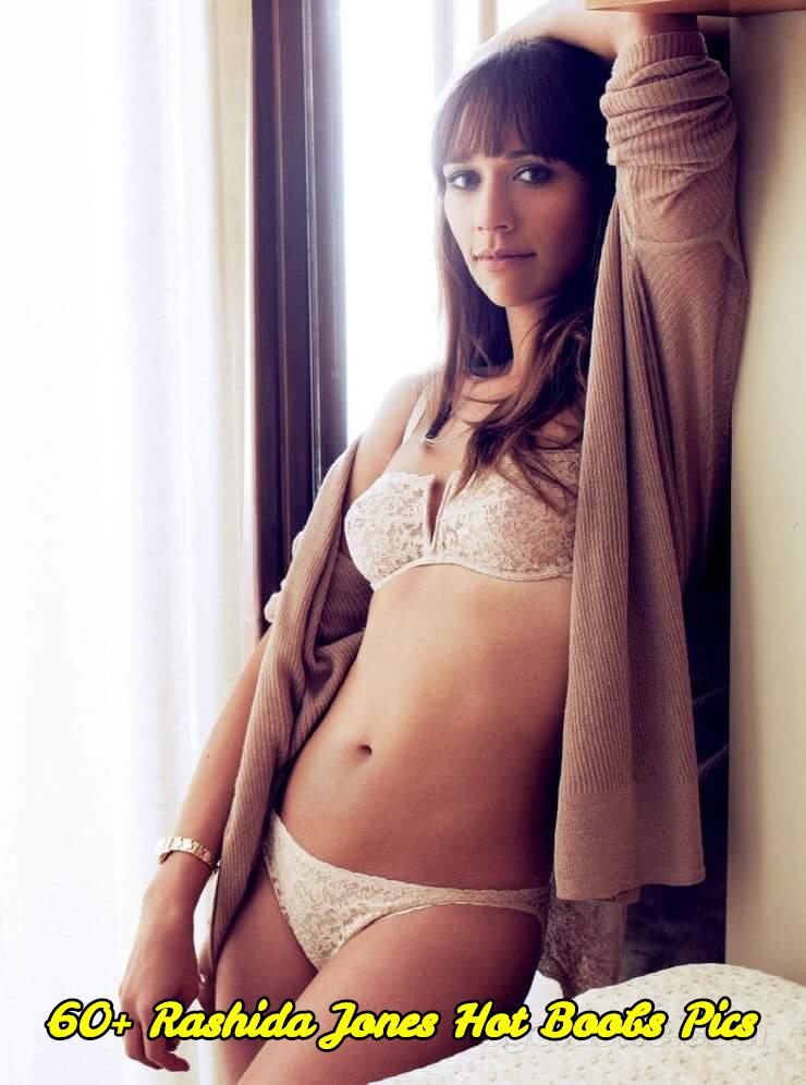 Rashida Jones hot boobs pics