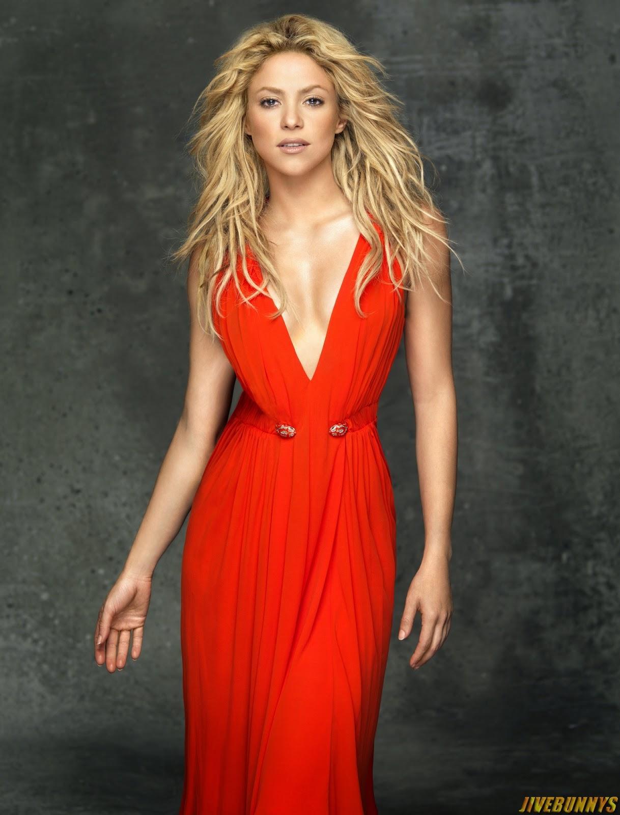 Shakira hot red dress pics