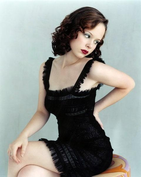 Thora Birch sexy black dress pics