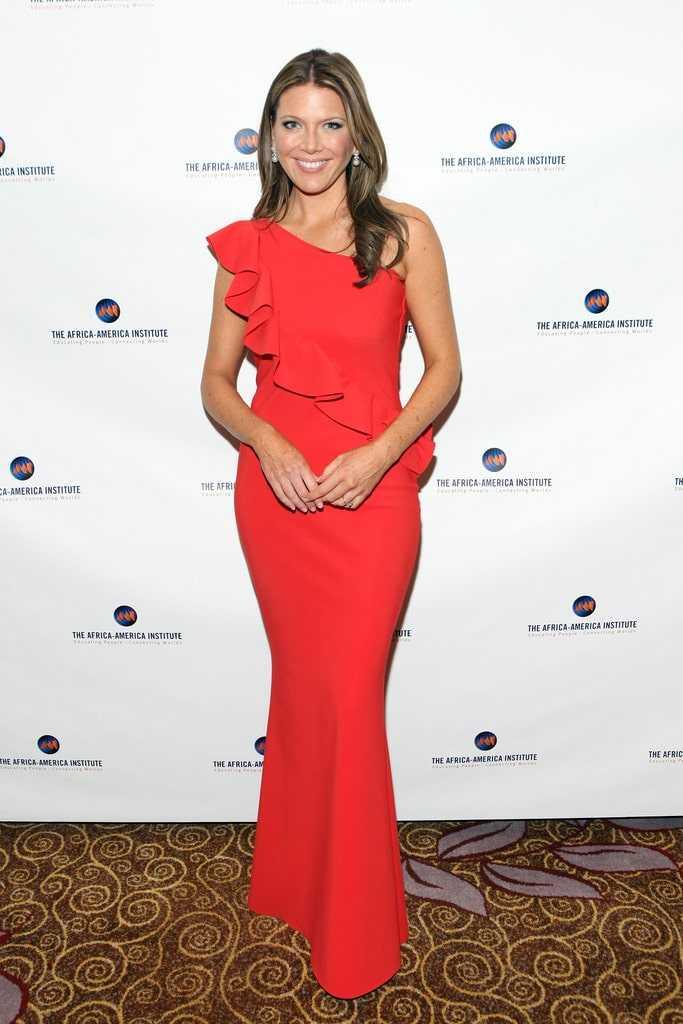 Trish Regan sexy red dress pics