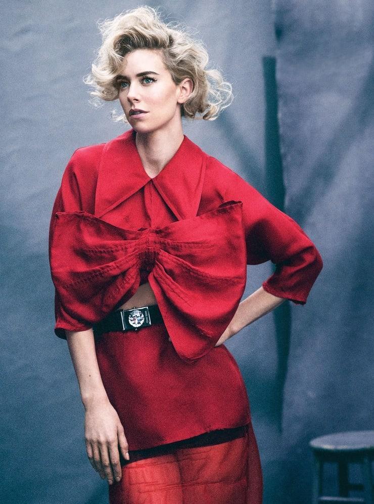 Vanessa Kirby sexy red dress pics