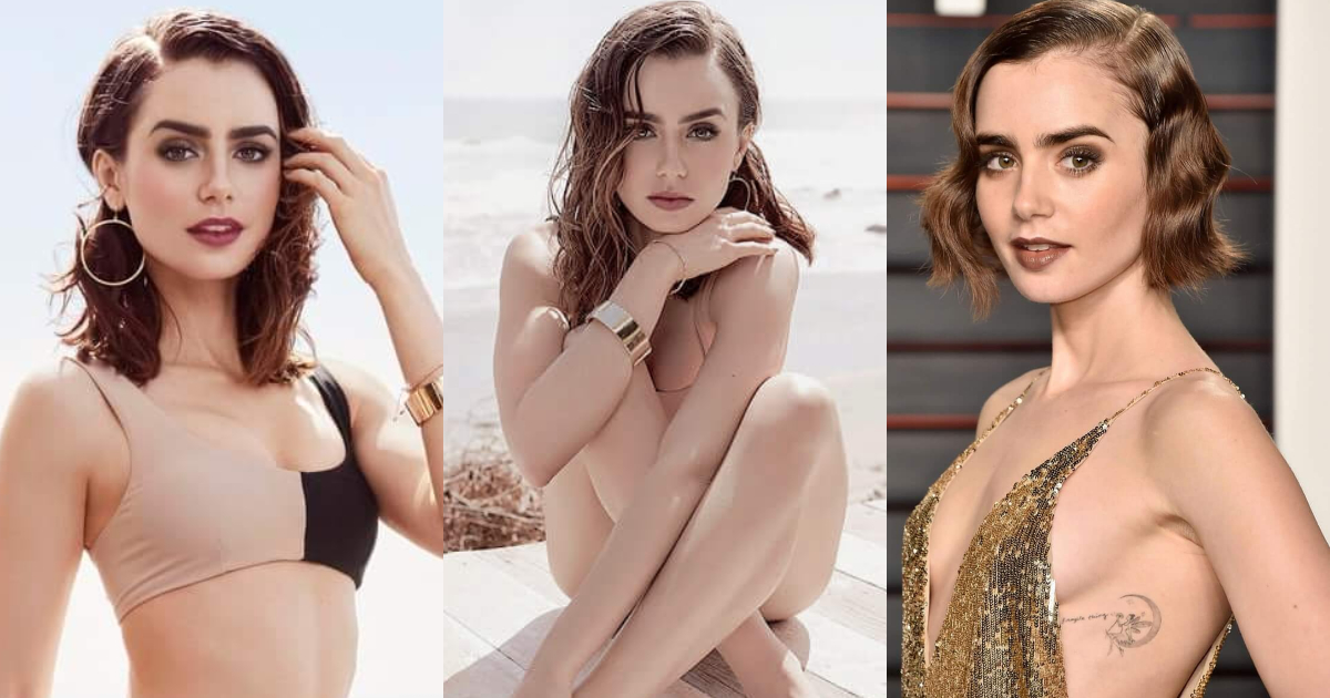 61 Hottest Lily Collins Boobs Pictures That Look Flaunting In A Bikini