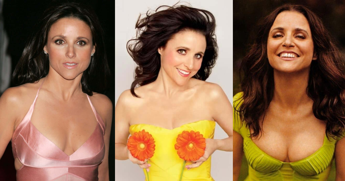 61 Sexiest Julia Louis-Dreyfus Boobs Pictures That Compliment Her Neck Nape | GEEKS ON COFFEE