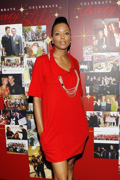 Aisha Tyler sexy red dress pics