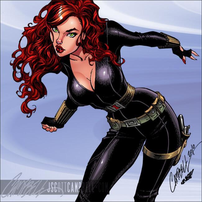 Black Widow amazing boobs pics