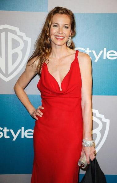 Connie Nielsen hot red dress pics