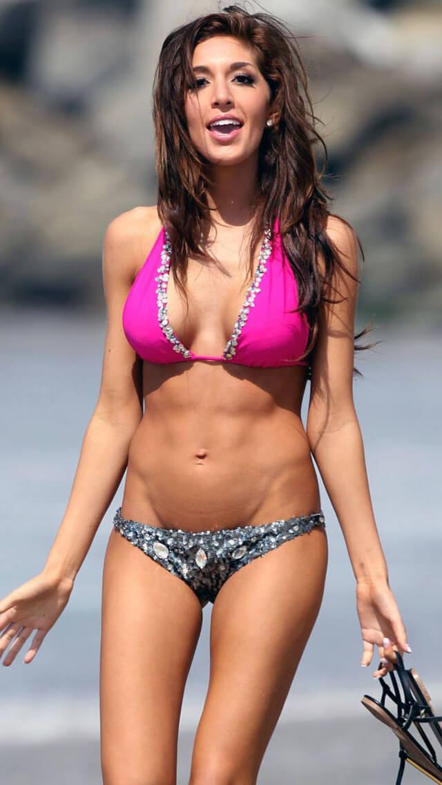 Farrah Abraham hot pink bikini pics