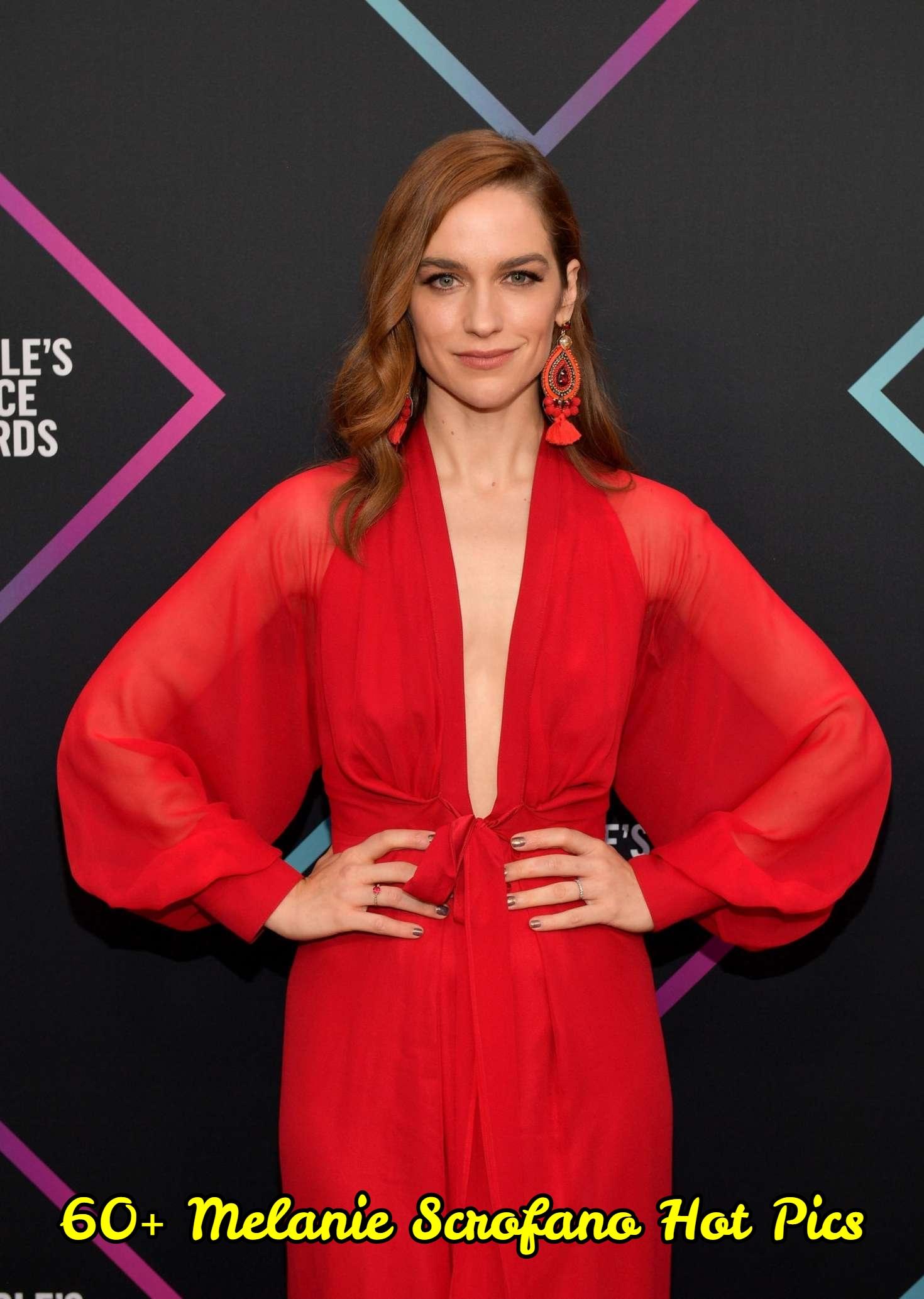 Melanie Scrofano hot red dress pics