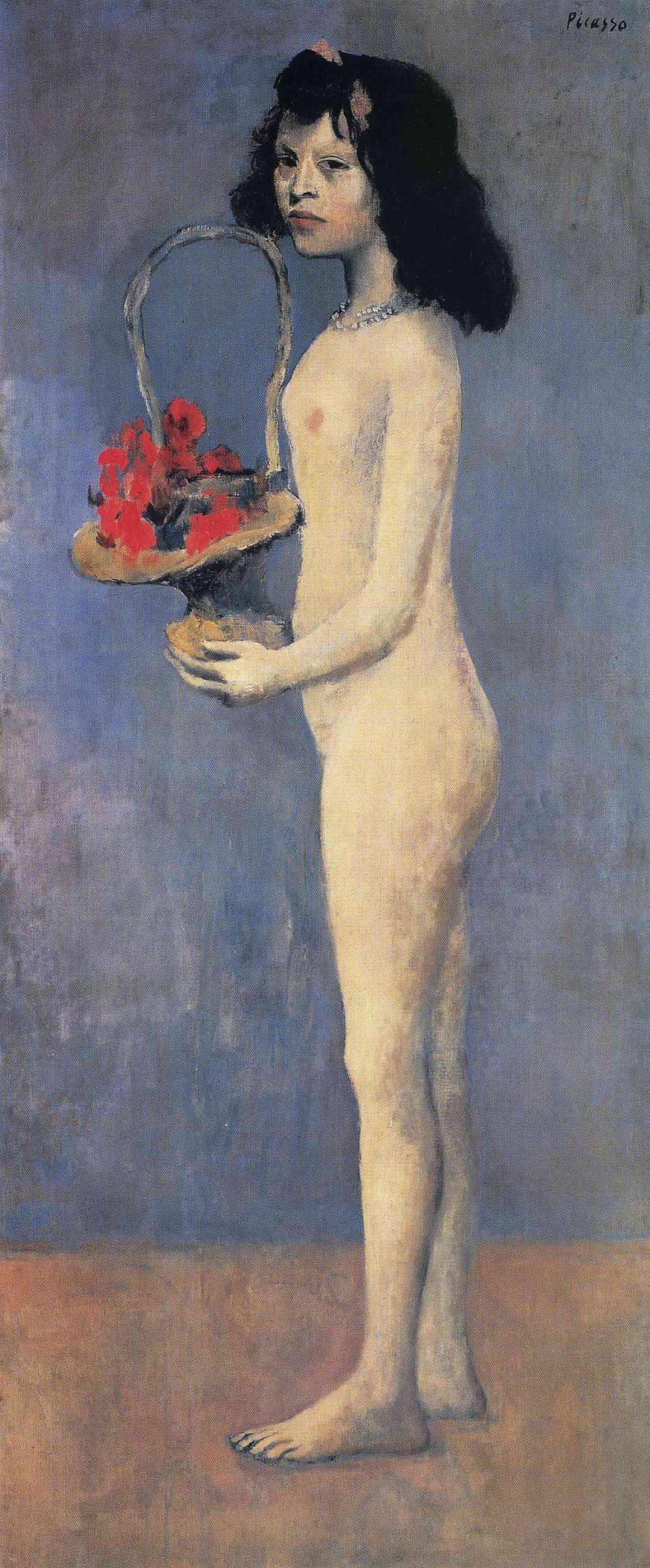 Pablo Picasso, Young Girl with a Flower Basket, 1905