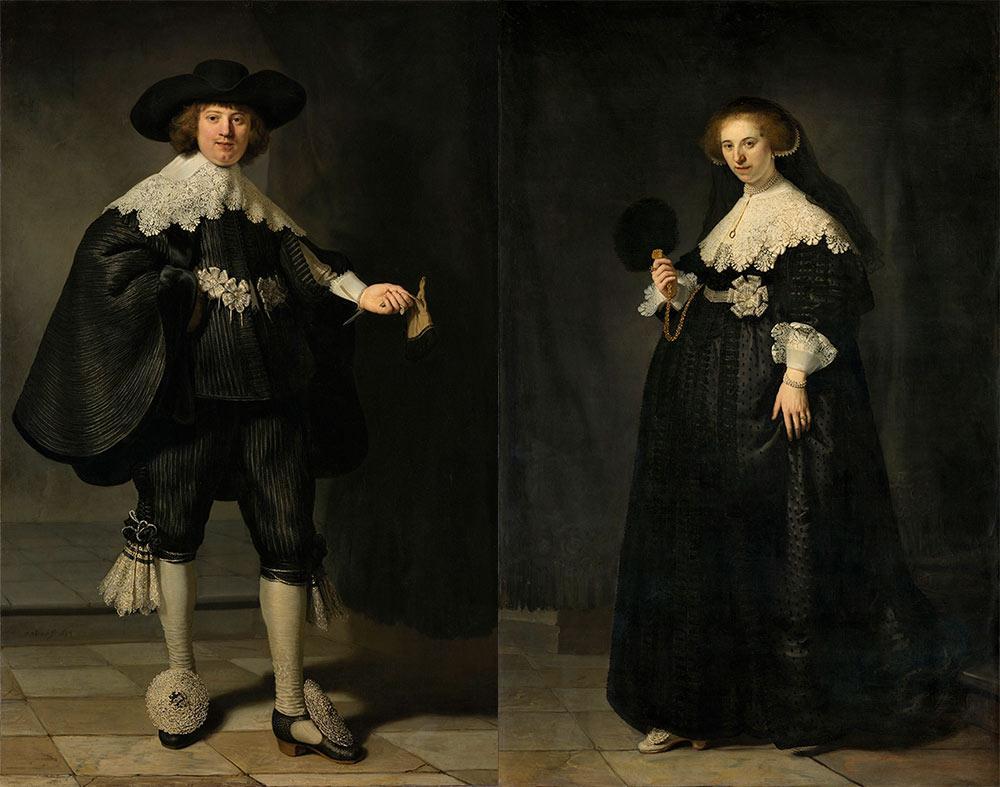 Pendant Portraits of Maerten – Soolmans and Oopjen Coppit – Rembrandt