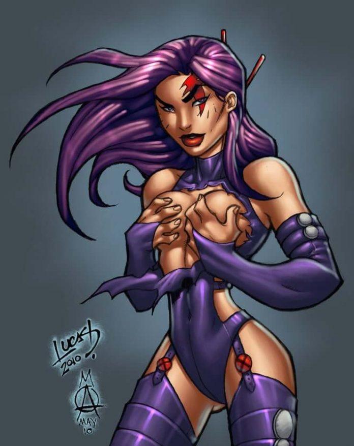 Psylocke sexy cleavage pics