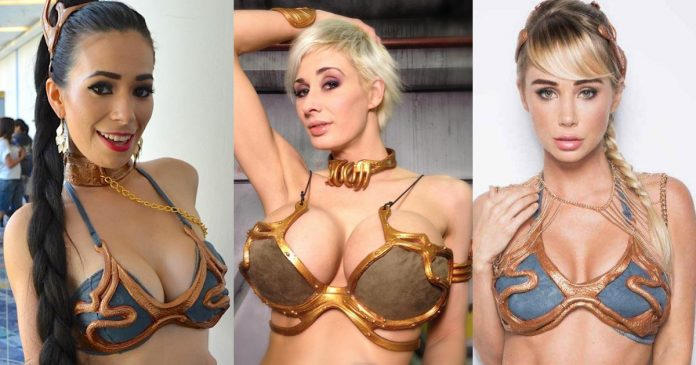 41 Hottest Slave Princess Leia Boobs Pictures Spectacularly Tantalizing Tits