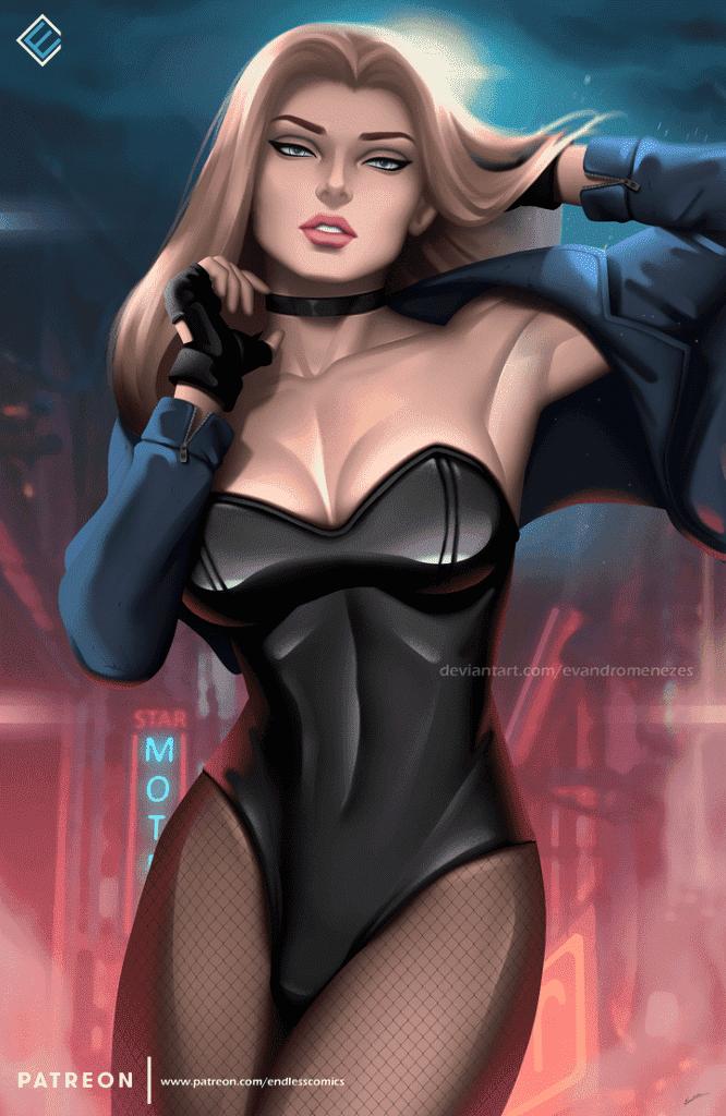 Black Canary big boobs pics