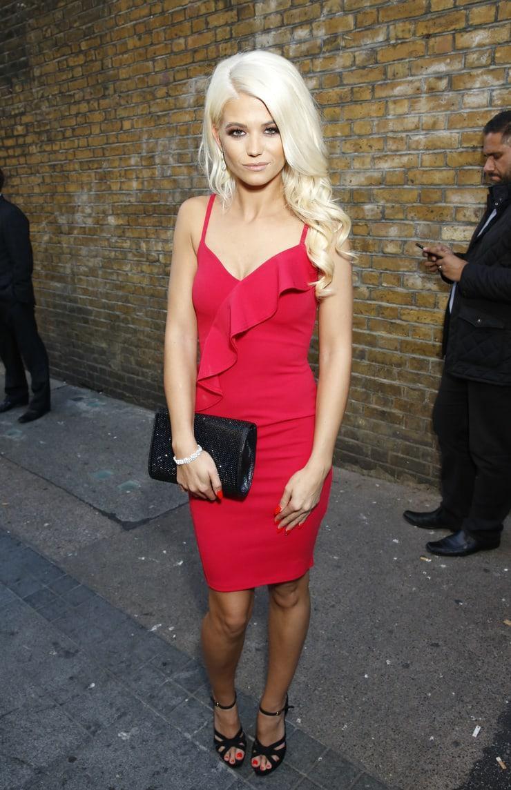 Danielle Harold sexy red dress pics