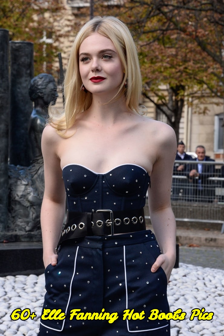 Elle Fanning hot boobs pics