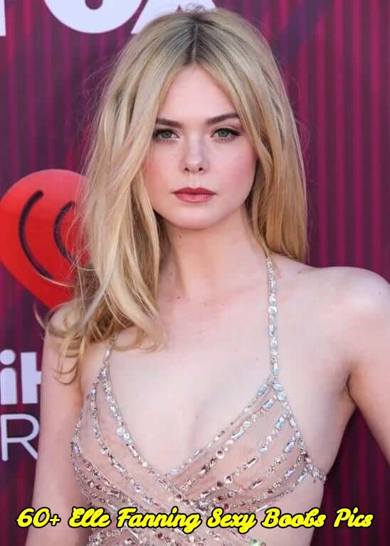 Elle Fanning sexy boobs pics