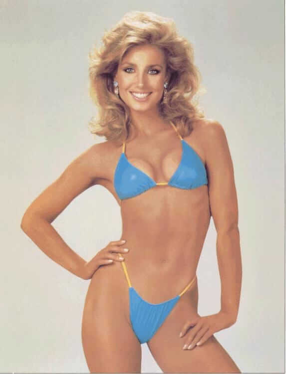 Heather Thomas blue bikini pic