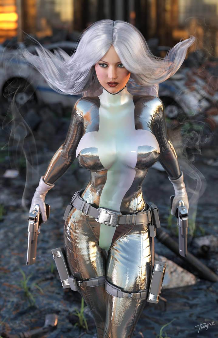 Silver Sable hot looks (2)