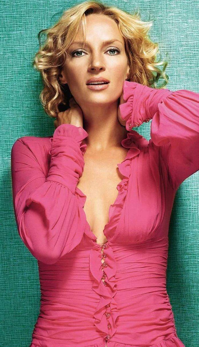 Uma Thurman cleavage pic