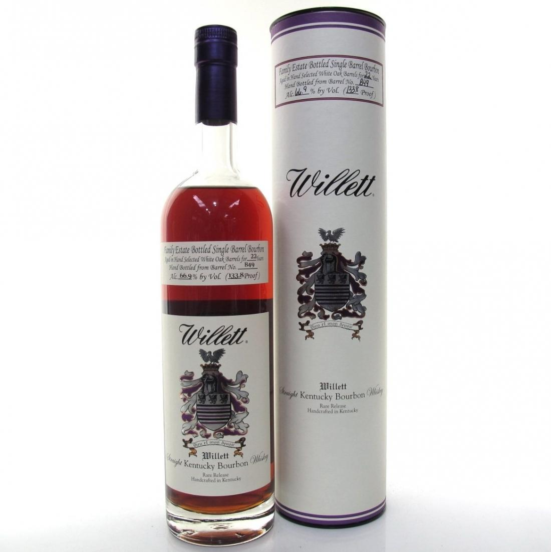 Willett Distillery Family Estate Bottled Single Barrel 22-Year-Old Straight Bourbon Whiskey