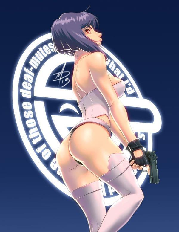 Major Motoko Kusanagi hot butt pic