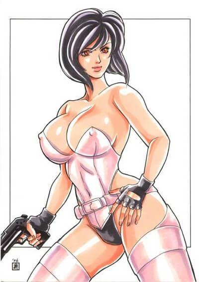 Major Motoko Kusanagi hot look pic