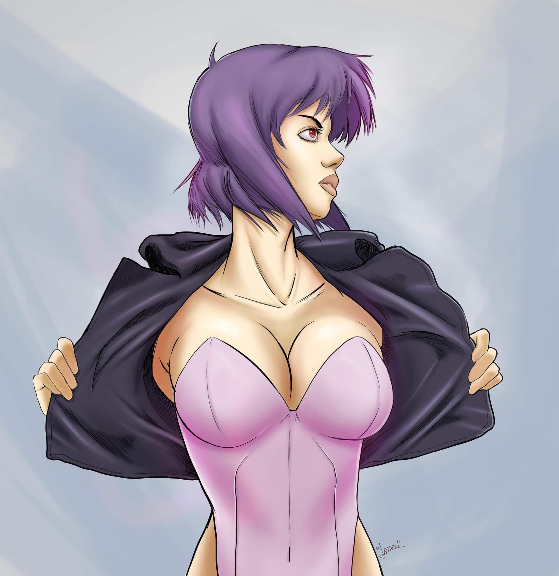Major Motoko Kusanagi sexy cleavage
