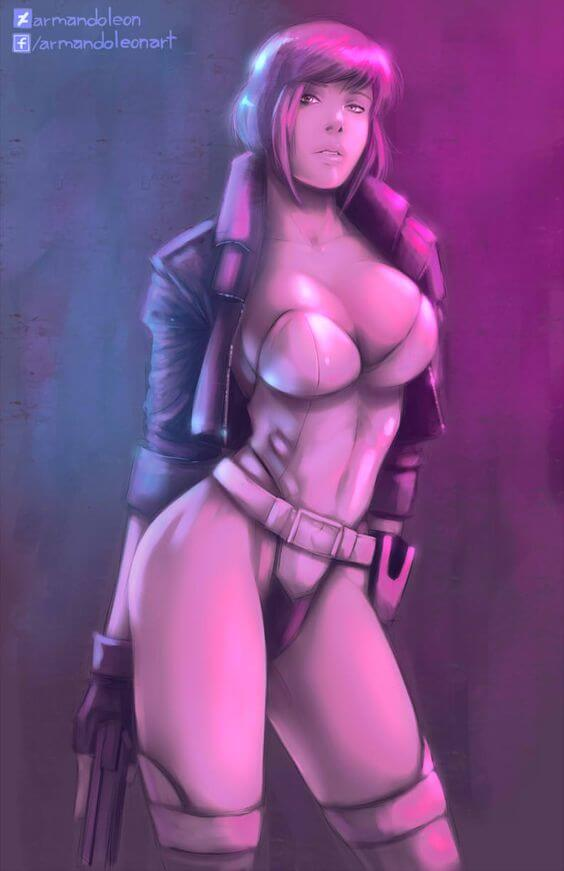 Major Motoko Kusanagi sexy look pic