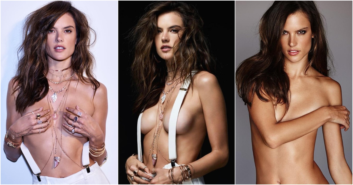 51 Hottest Alessandra Ambrosio Boobs Pictures Show Off Her Perfect Set Of Racks