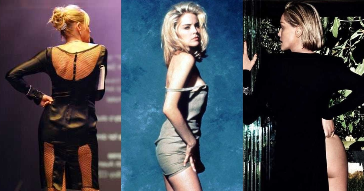 51 Sexiest Sharon Stone Big Butt Pictures Are So Round and Big You Can Only Imagine How Hot She'd Look in a Bikini