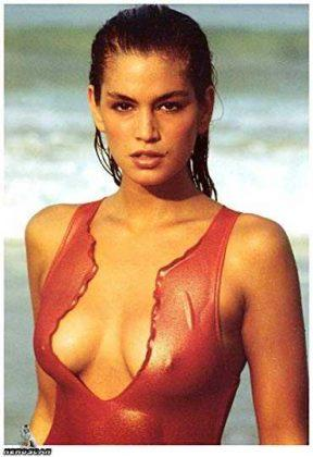 Cindy Crawford sexy cleavage pics